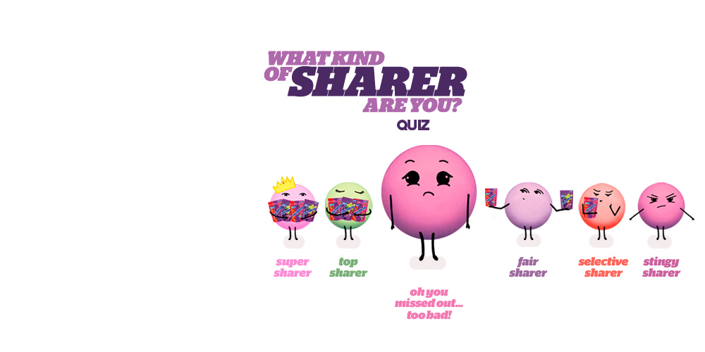 Mentos Character Design for What type of sharer are you App.