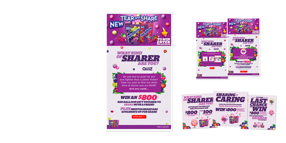 Mentos, What type of sharer are you app design
