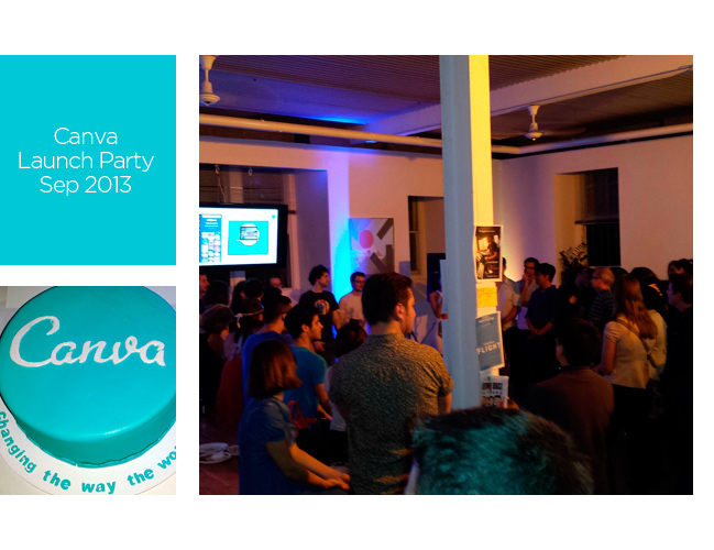 Canva Launch Party - September 2013.