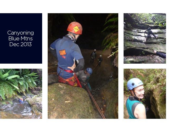 Canyoning, Blue Mountains - December 2013